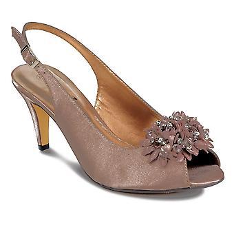 Kwiatowy zroszony niskim obcasem kobiet Panie Smart Peep Toe buty sprzęgła torebce zestaw