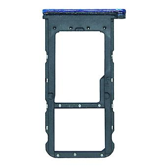 For Huawei P smart plus cards Halter SIM card tray slide holder Blue spare parts new