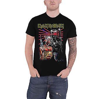 Iron Maiden T Shirt Eddie Terminate band Logo new Official Mens Black