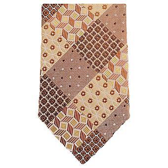 Knightsbridge Neckwear Multi Pattern Floral Tie - Orange