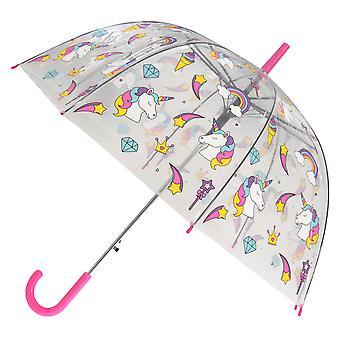 X-brella damskie/Panie tęczy jednorożec automatyczne Dome parasol