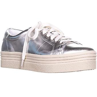 Marc Fisher Womens Emmy6 Velvet Low Top Lace Up Fashion Sneakers