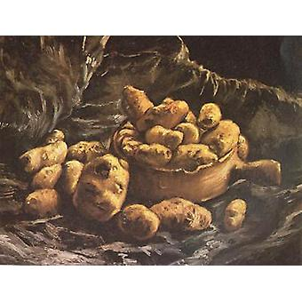 Still life with an Earthen Bowl and Potatoes,Vincent Van Gogh,44x57cm