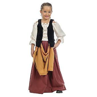 Medieval farmer girl costume maid kids costume