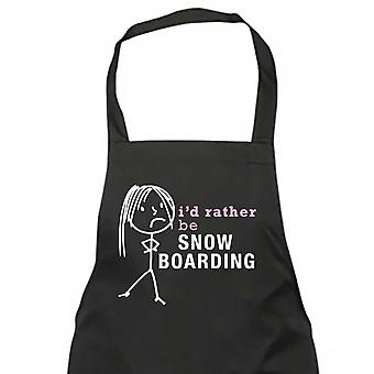 Ladies I'd Rather Be Snow Boarding Apron