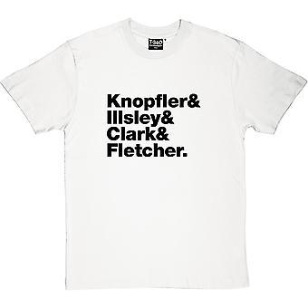 Camiseta Dire Straits line hombres