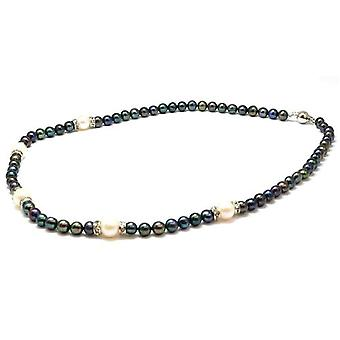 TOC Dyed Semi Baroque Byzantium & Bleached White Freshwater Cultured Pearl 13