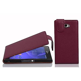 Cadorabo Case for Sony Xperia M2 / M2 Aqua Case Cover - Phone Case in Flip Design in Textured Faux Leather - Case Cover Case Case Case Case Case Book Folding Style