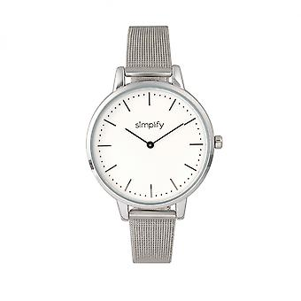 Simplify The 5800 Mesh Bracelet Watch - Silver