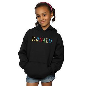 Disney Girls Donald Duck Letters Hoodie