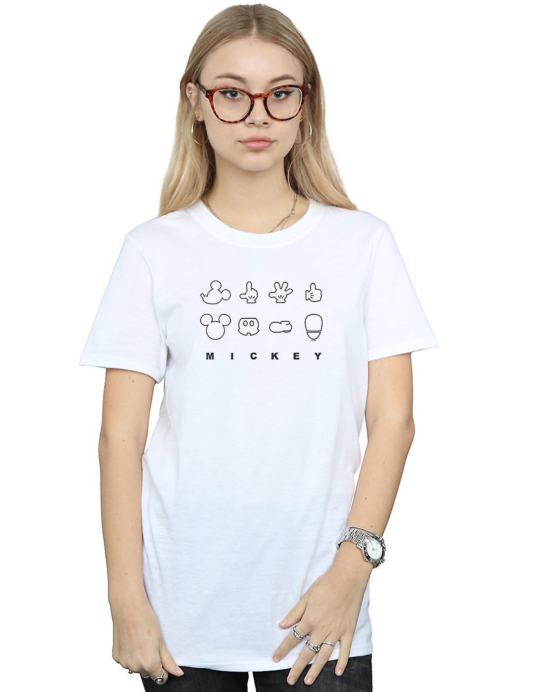 Disney Women's Mickey Mouse Deconstructed Boyfriend Fit T-Shirt