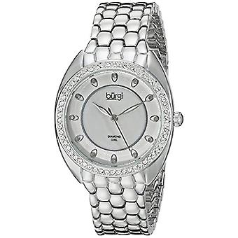 Burgi's-ladies ' mother of Pearl Dial quartz, analog Display and BUR145SS alloy bracelet, color: Silver