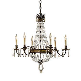 Bellini seis Chandelier luz - iluminação Elstead