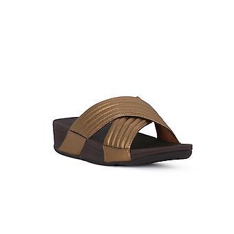 Fashion flops lulu padded slide sandals
