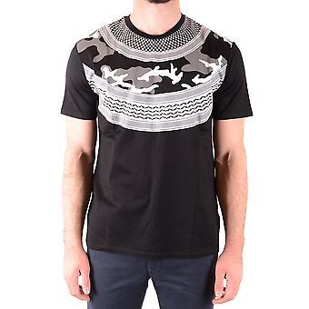 Neil Barrett Ezbc058070 Männer's schwarze Baumwolle T-shirt