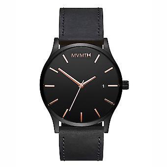 MVMT CLASSIC Black Rose Men ' s Watch relógio de pulso de couro MM01-BBRGL