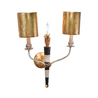 Flambeau zwei leichte Wandleuchte - Elstead Beleuchtung Fb / FB/FLAMBEAU2