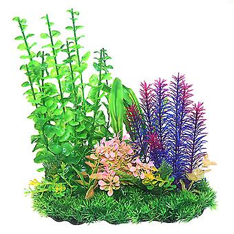 Betta Choice Green & Purple Combi Plastic Plant 33cm