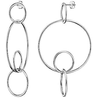 Calvin Klein Clink gepolijst zilver roestvrijstaal hoepel oorbellen KJ9PME000100