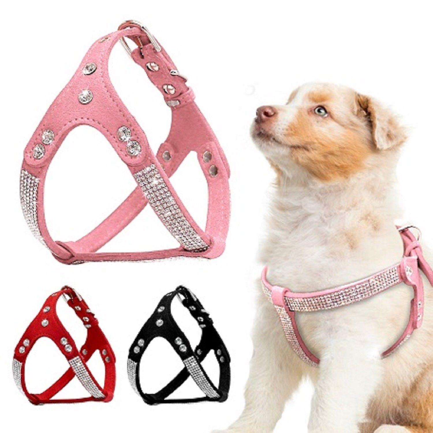 Diamante Bling Soft Suede Harness