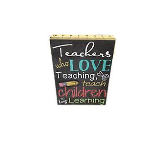 Teachers Love Teaching Standing Plaque | Gifts From Handpicked