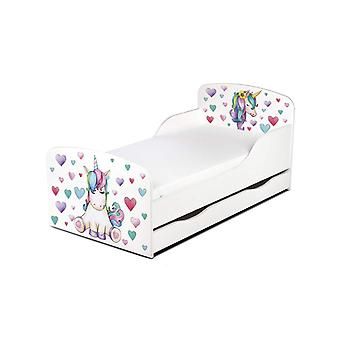 PriceRightHome Unicorn Toddler Bed with Underbed Storage