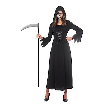 Womens Halloween Grim Reaper Fancy Kleid Kostüm