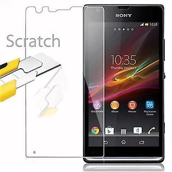 Cadorabo Tank Foil for Sony Xperia SP - Protective Film in KRISTALL KLAR - Tempered Display Protective Glass in 9H Hardness with 3D Touch Compatibility
