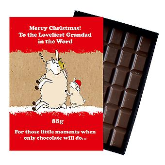 Funny Christmas Gift for Grandad Grandfather Chocolate Xmas Present for Grampy XMS120