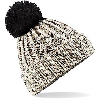 Beechfield - Twist-Knit Pom Pom Beanie Hat