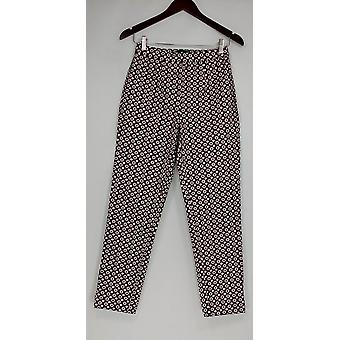 C. Wonder Women's Pants Medallion Printed Ankle Length Red A281004