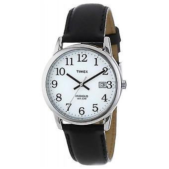 Timex Mens hvit svart enkel leser T2H281 klokken