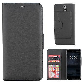 Nokia 8 -kotelon musta lompakkokotelo