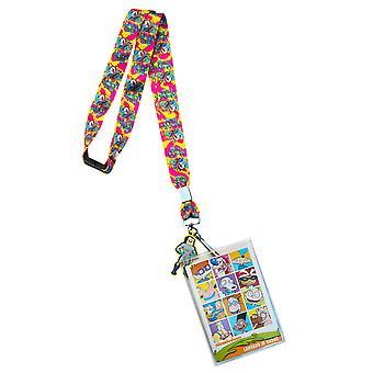 Nickelodeon Ren & Stimpy Keychain Lanyard