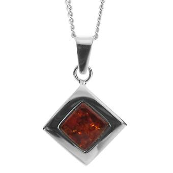 InCollections 11203569100 - Chain with women's pendant with amber - silver sterling 925 - 420 mm