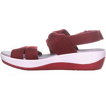 Clarks dame Arla Mae stof åben tå Casual Slingback sandaler