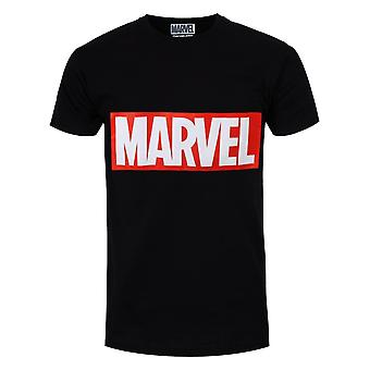 Marvel Mens Box Logo T Shirt