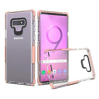 Transparent Clear/Rose Gold Bumper Claro Candy Skin Cover pour Galaxy Note 9
