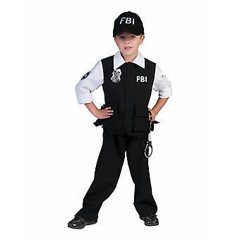 FBI Agent lasten puku pojat erikoisyksikkö Carnival lapset poliisi puku karnevaali