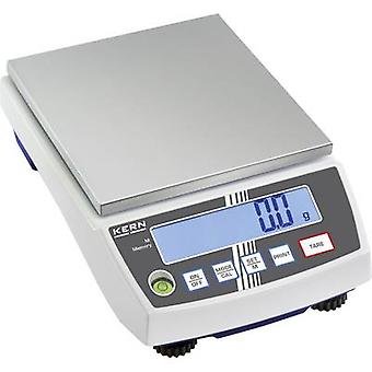 Kern Precision scales Weight range 6 kg Readability 0.1 g mains-powered, rechargeable Silver