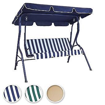 Charles Bentley 2-3 posti giardino patio altalena sedile amaca sedia in acciaio verniciato a polvere-Stripe/Plain design