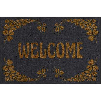 Salonloewe doormat Welcome Art Deco gold 50 x 75 cm washable dirt mat