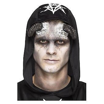Látex para hombre demonio cuerno prótesis Halloween disfraces accesorios