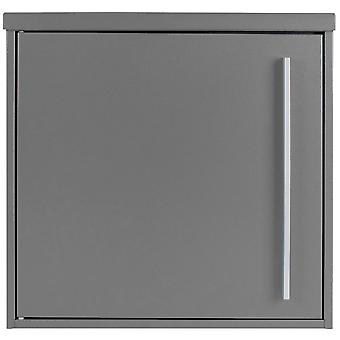 Mail box MOCAVI box 101 grey aluminium (RAL 9007) / grey 10 litre wall letter box