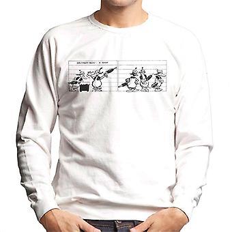 Krazy Kat Mrs Kwakk Wakk Lineup Men's Sweatshirt