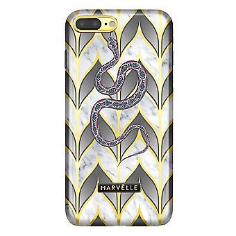 Marvêlle iPhone 7/8 Plus Magnetic Case Golden Leaves