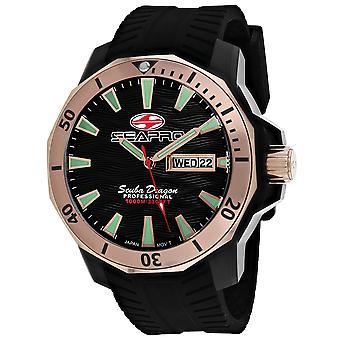 Seapro Men's Scuba Dragon Diver Edición Limitada 1000 Metros Reloj De Marcado Negro - SP8323