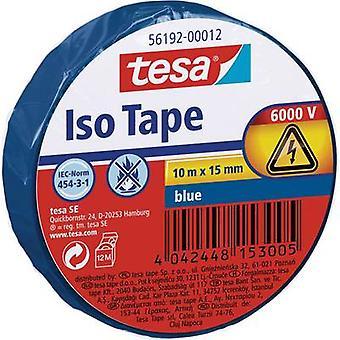 tesa 56192-12-02 Elektrisk tape Blå (L x W) 10 m x 15 mm 10 m