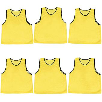 6-pack Adult Scrimmage Pinnies, Amarillo