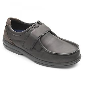 Padders Donald Mens Leather Extra Wide (h/k) Shoes Black